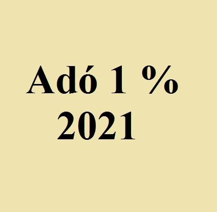 adó 1 százalék 2021