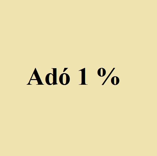 adó 1%